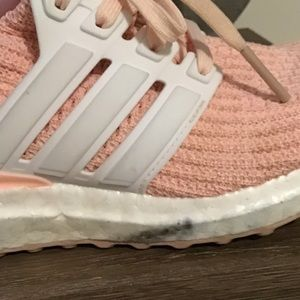 adidas Shoes - Adidas Boost girls pink and white sneakers